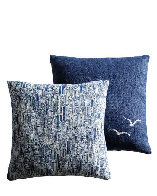 MOLTENI | Синий Sky-Line Seagulls Set Of 2 Pillows