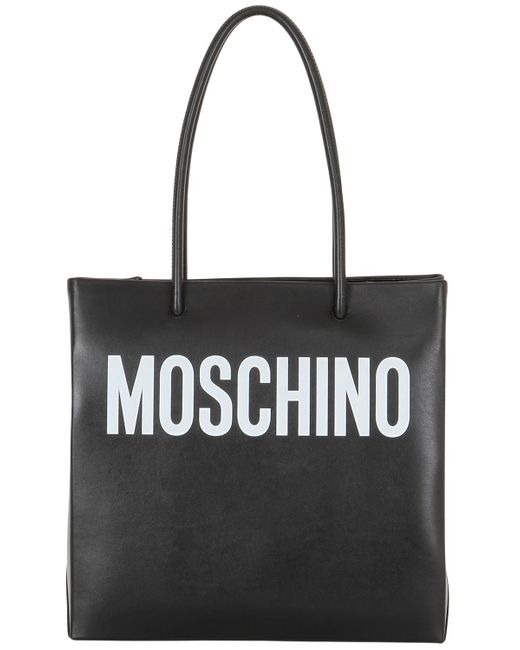 Moschino | Чёрный Logo Shopping Nappa Leather Tote