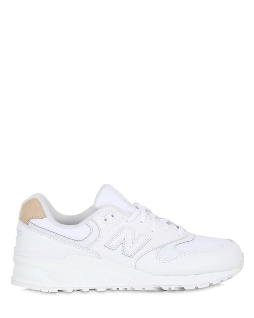 New Balance   Белый 999 Croc Embossed Leather Sneakers