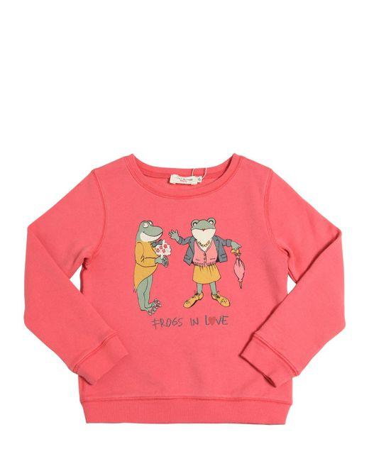 Nice Things Mini | Розовый Frogs In Love Print Cotton Sweatshirt