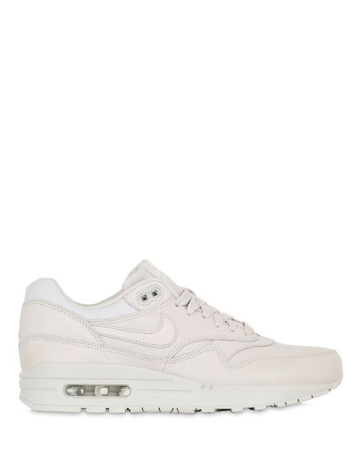 Nike | Light Bone Air Max 1 Pinnacle Leather Sneakers