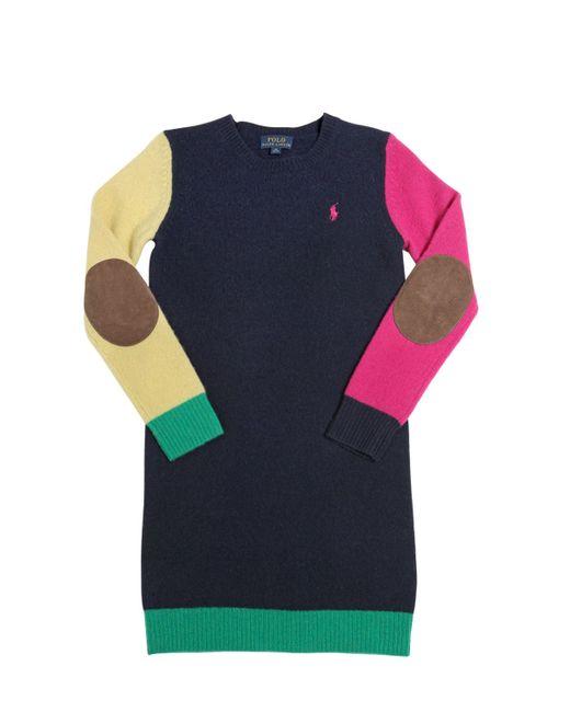 RALPH LAUREN CHILDRENSWEAR | Синий Wool Sweater Dress