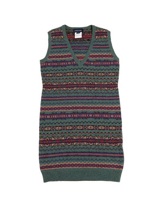 RALPH LAUREN CHILDRENSWEAR | Зелёный Cotton And Merino Wool Dress