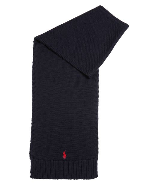 RALPH LAUREN CHILDRENSWEAR | Navy Knitted Wool Scarf
