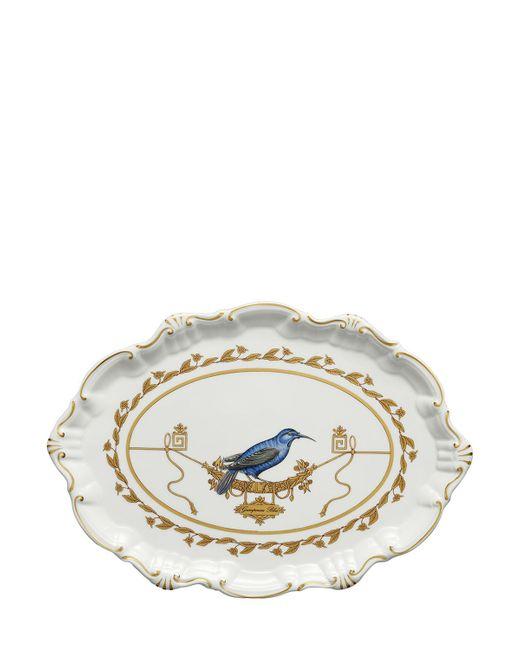 RICHARD GINORI 1735 | Золотой Voliere Small Oval Porcelain Platter