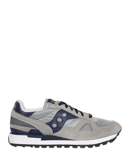 Saucony | Серый Shadow Original Suede Nylon Sneakers