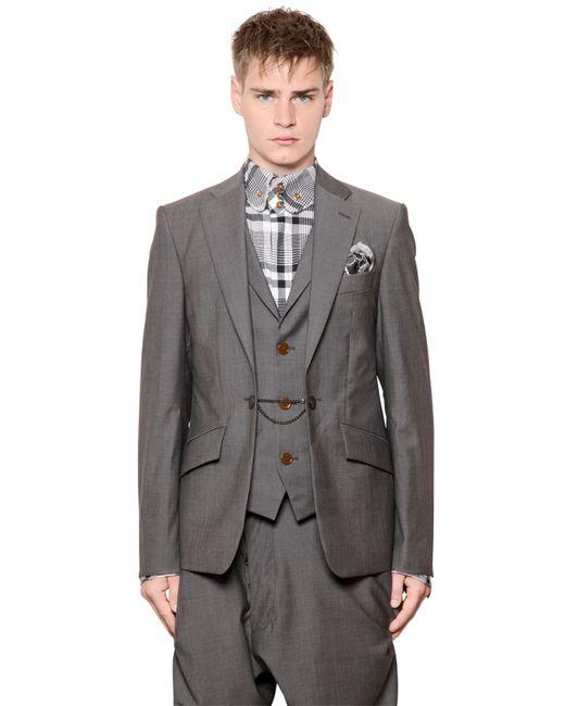Vivienne Westwood | Серый Layered Cool Wool Jacket With Vest