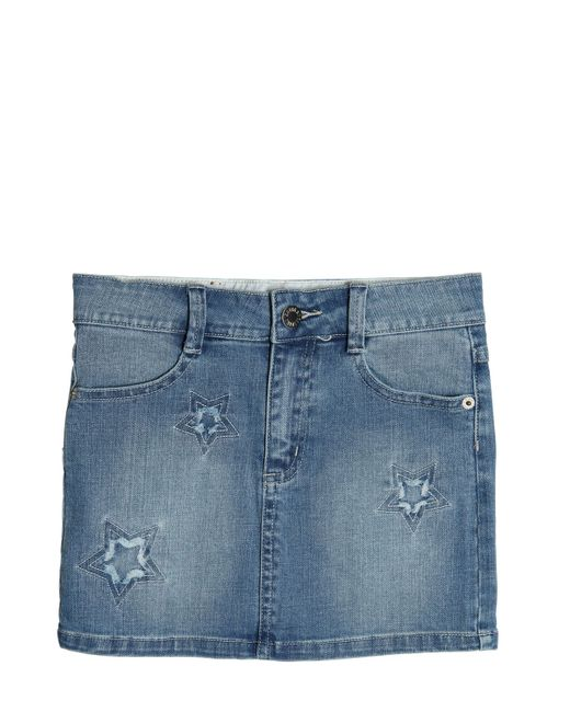 Zadig & Voltaire | Denim Embroidered Stretch Cotton Skirt