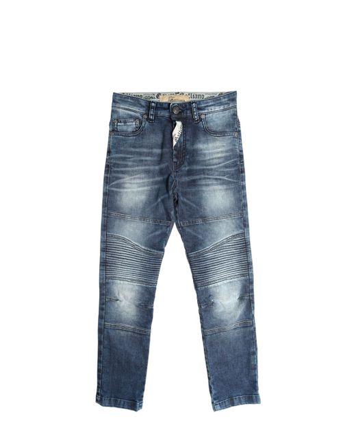 John Galliano | Denim Stretch Jeans W/ Biker Details