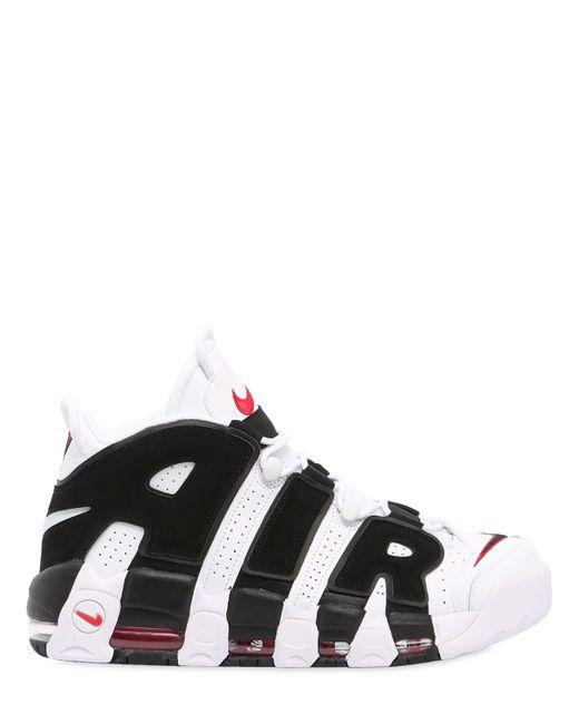 Nike | Мужские Белые Кожаные Кроссовки Air More Uptempo