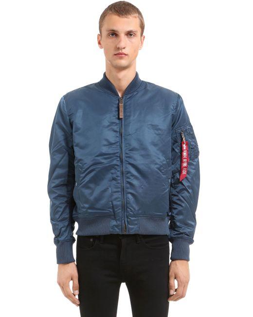 Alpha Industries | Мужская Синяя Нейлоновая Куртка-Бомбер Ma-1