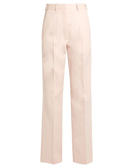 HILLIER BARTLEY | Розовый Straight-Leg Wool And Silk-Blend Tuxedo Trousers