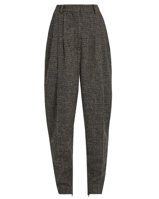 HILLIER BARTLEY | Женское Серый High-Rise Carrot-Leg Checked-Wool Trousers