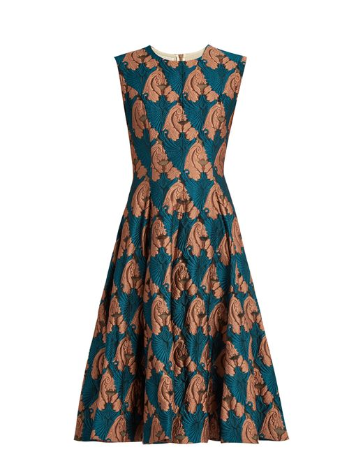 Emilia Wickstead | Женское Синий Mercedes Fil Coupé Sleeveless Dress