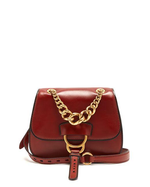 Miu Miu | Женское Tan Dahlia Leather Cross-Body Bag