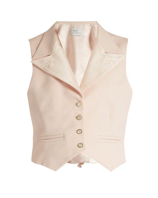 HILLIER BARTLEY | Розовый Peak-Lapel Wool And Silk-Blend Waistcoat
