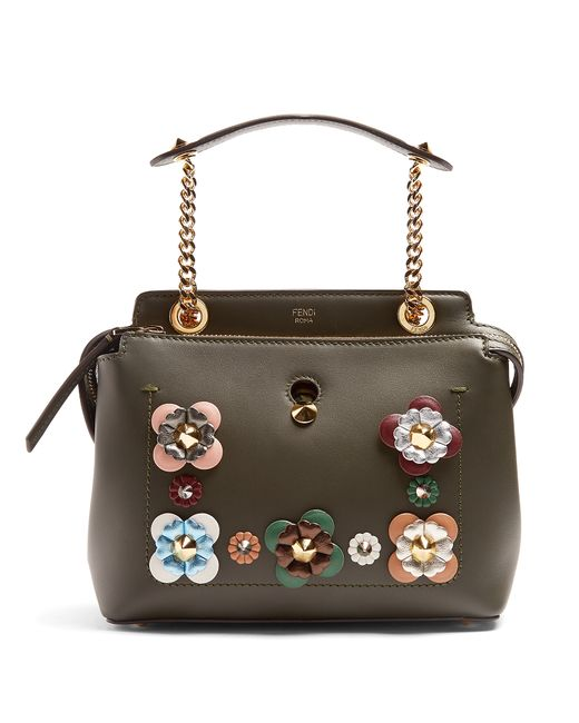 Fendi | Женское Зелёный Dotcom Small Flower-Appliqué Bag