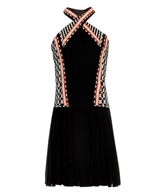 Balmain   Женское Чёрный Halterneck Embellished Dress