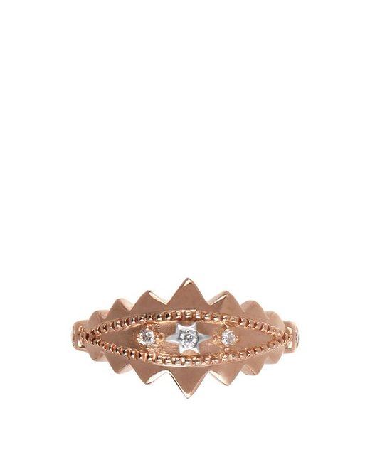 ELISE DRAY   Золотой Diamond Rose-Gold Khalessi Ear Cuff