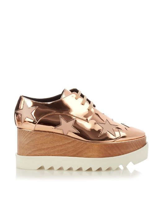 Stella Mccartney | Золотой Elyse Lace-Up Platform Shoes