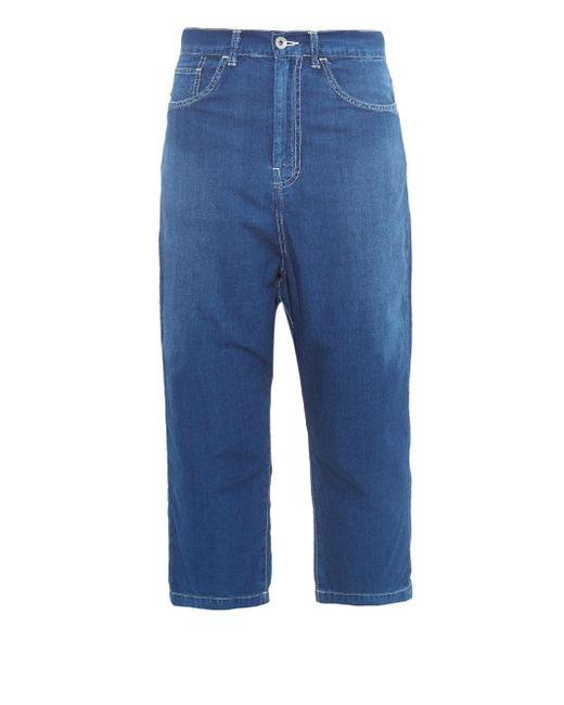 Y'S BY YOHJI YAMAMOTO   Denim Boyfriend-Fit Cropped Jeans