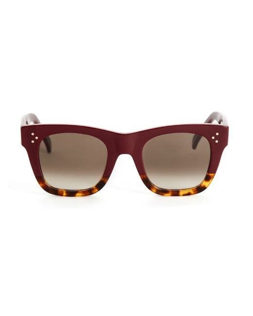 CÉLINE SUNGLASSES | Женское Burgundy Square-Framed Acetate Sunglasses