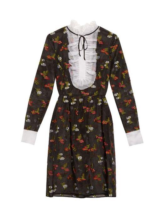 Erdem | Женское Чёрный Katy Fil-Coupé Silk Dress
