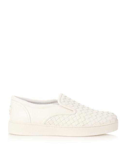 Bottega Veneta | Женское Белый Intrecciato Leather Slip-On Trainers