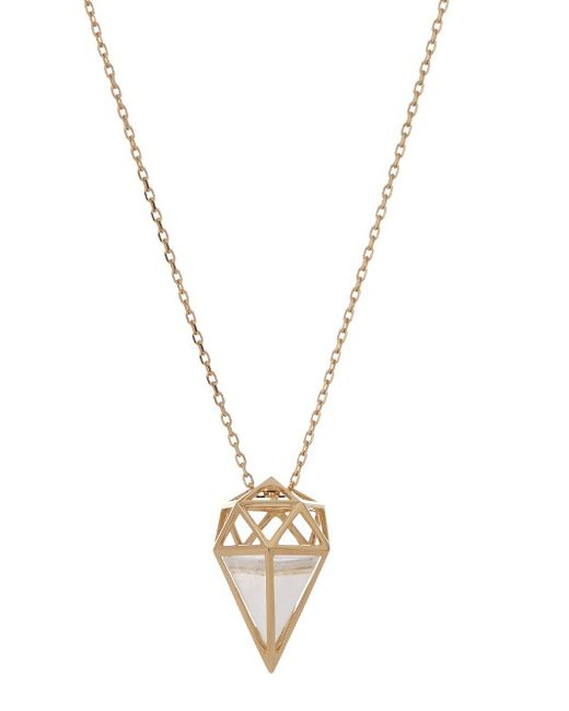 Noor Fares | Женское Золотой Deia Quartz Yellow-Gold Necklace