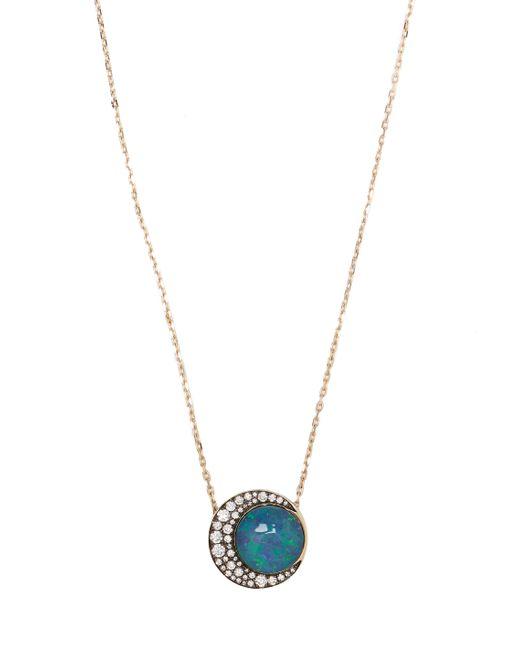 Noor Fares | Синий Diamond Opal Necklace