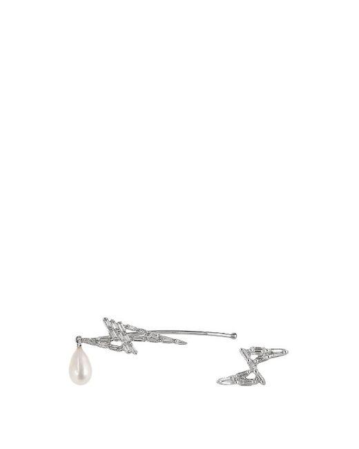 ELISE DRAY | Женское Золотой Diamond Pearl White-Gold Earrings