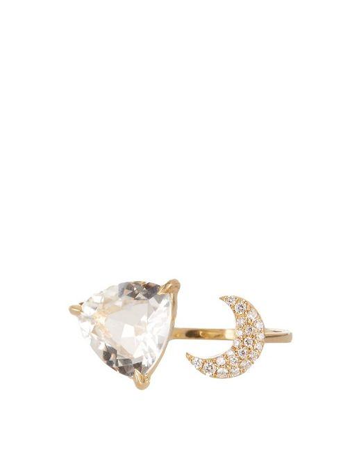ELISE DRAY   Женское Золотой Diamond Crystal Yellow-Gold Ring