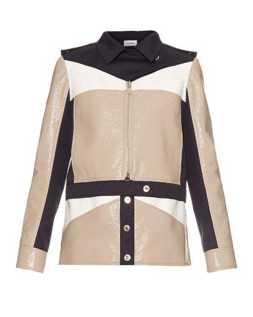 Courreges   Бежевый Contrast-Panel Zip-Through Jacket
