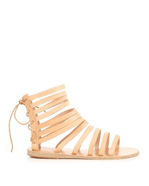 ANCIENT GREEK SANDALS | Женское Light Tan Galatia Leather Sandals