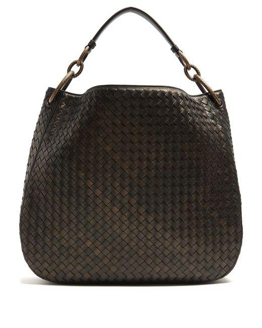 Bottega Veneta | Женское Bronze Loop Medium Intrecciato Leather Shoulder Bag