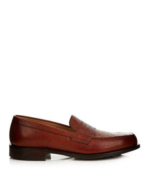 CHEANEY | Howard R Pebbled-Leather Loafers