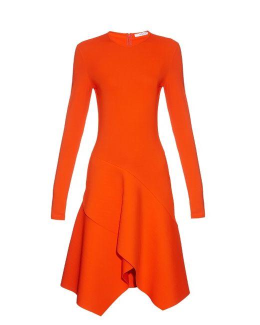Givenchy | Женское Оранжевый Long-Sleeved Asymmetric-Hemline Jersey Dress