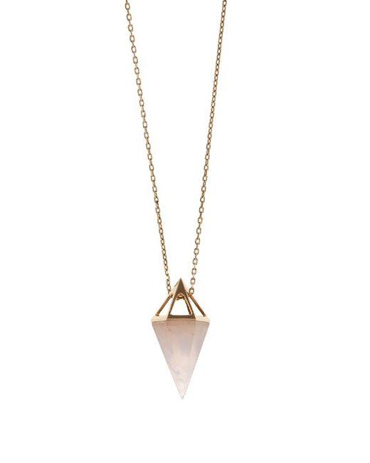 Noor Fares | Золотой Rose-Quartz Yellow-Gold Necklace