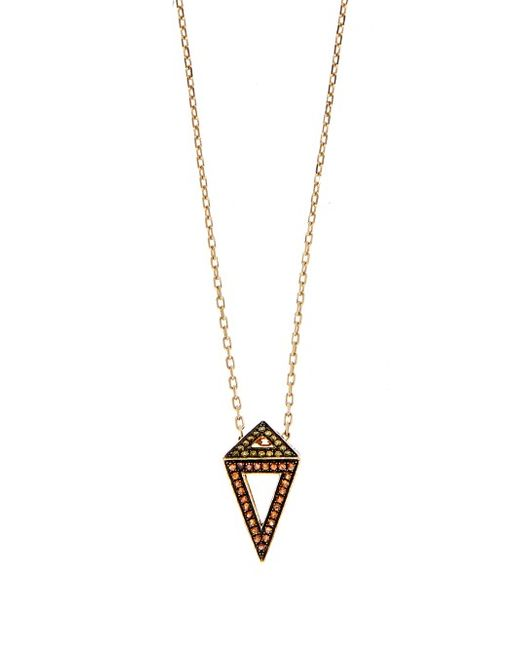 Noor Fares   Multi Diamond Sapphire Ruby Yellow-Gold Necklace