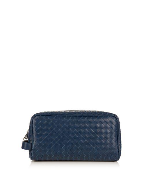 Bottega Veneta | Синий Intrecciato Leather Washbag
