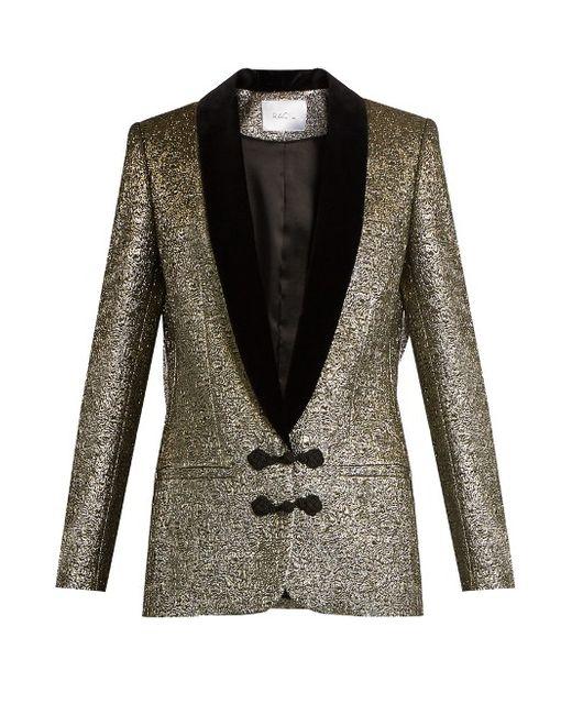 RACIL | Золотой Draco Velvet-Lapel Metallic-Brocade Jacket