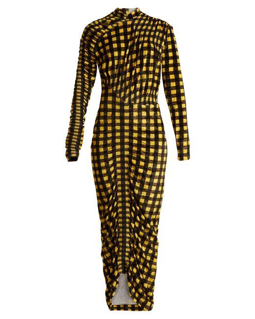 Preen By Thornton Bregazzi | Женское Чёрный Christy Gingham Velvet Dress