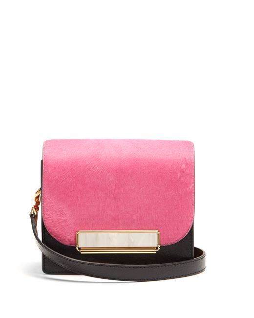 HILLIER BARTLEY | Женское Multi Satchel Mini Calf-Hair And Leather Shoulder Bag
