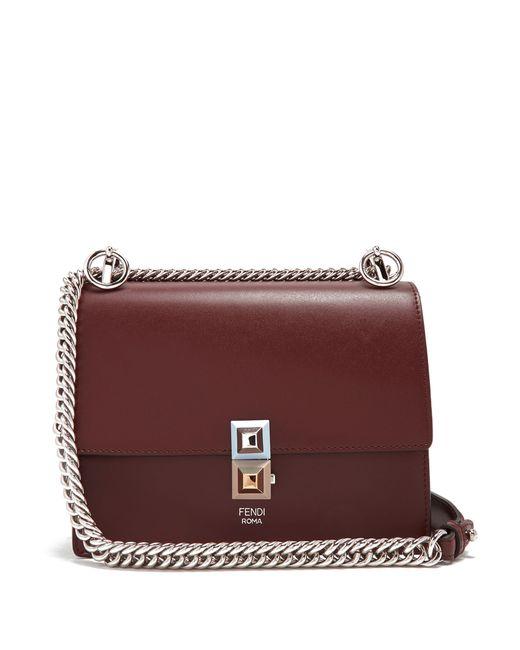 Fendi | Женское Burgundy Multi Kan I Small Cross-Body Bag