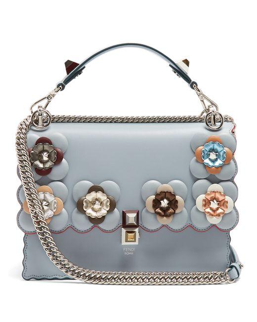 Fendi | Женское Голубой Kan I Flower-Embellished Shoulder Bag
