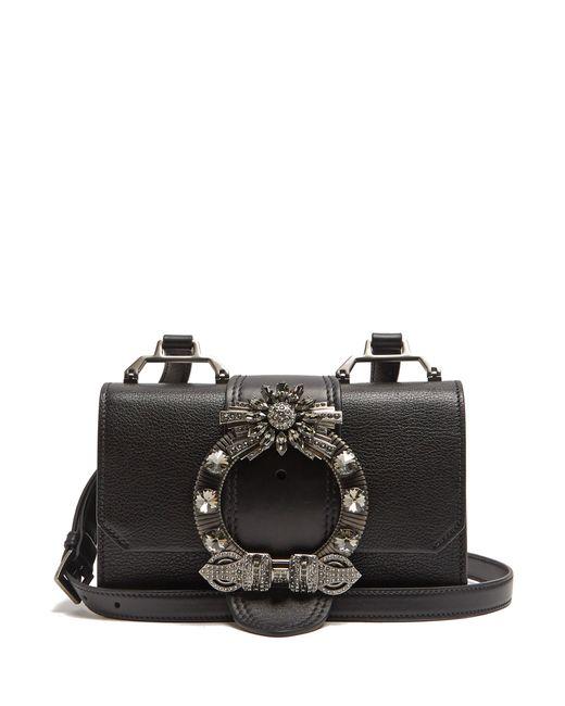 Miu Miu   Женское Чёрный Lady Grained-Leather Cross-Body Bag