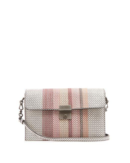 Bottega Veneta | Женское Белый Embroidered Snakeskin Shoulder Bag
