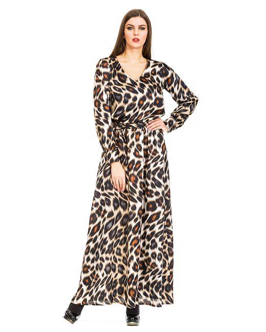 Mondigo | Женское Коричневое Платье 5171