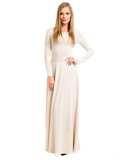 Mondigo | Женское Бежевое Платье 7003