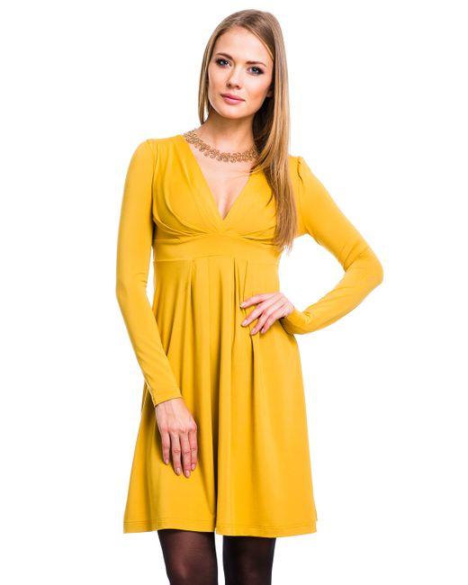 Mondigo | Женское Горчичное Платье 019